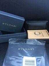 Bvlgari Wedding Ring 18k White Gold AN852826 337959 Ring Sz 7.50 MSRP $850