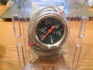 """Make Waves Super Pro Mechanical Temperature Gauge 2-1/16"""" #3410 280° Lighted"""