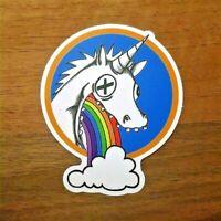 2x Einhorn Sticker Unicorn Aufkleber Puking Regenbogen Pferd Party Geschenk