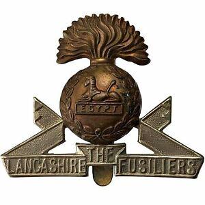 Original WW1 Lancashire Fusiliers Regiment Cap Badge - XF42