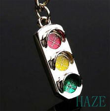Mini Traffic Light Car Key Ring Chain Classic 3D Keyfob Keychain Ring