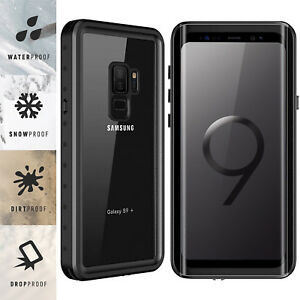 For Samsung Galaxy S9 / S9 Plus Waterproof Case Cover Built-in Screen Protector