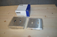 New Eagle Stainless Steel 2-Gang Toggle Switch Cover Wall Plate PACK OF 10