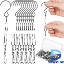 30 Pieces Dual Swivel Hook 360 Degree Rotating Windsock Clips Stainless Steel Ha