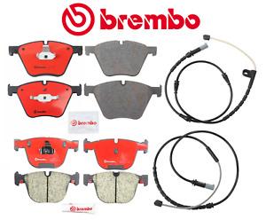 Front Brake Pads Rear Brake Pads Ceramic OEM Brembo + Sensor BMW X6 ActiveHybrid