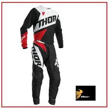 COMPLETO MOTO CROSS QUAD ENDURO THOR SECTOR BLADE CHARCOAL/RED 2020