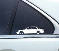 2X Lowered car outline stickers - for Acura Integra sedan DB1 USDM