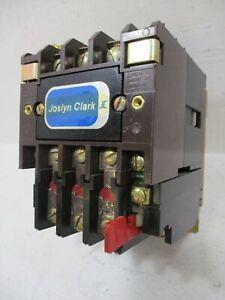 Joslyn Clark T13U03A Size 00 Motor Starter 9 Amp 120V Coil TB159-1 Sz00