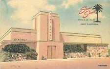 1940s Sans Souci Restaurant Coachella California MWM postcard 12309