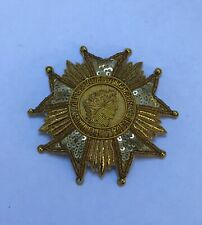 French Legion of Honour 1870 Badge, Order, Hand Embroidered Gold Star