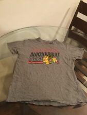 Chicago Blackhawks Gray NHL T-Shirt Medium Good Condition