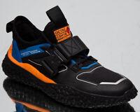 Puma HI OCTN Sports Design Men's Black Blue Orange Low Lifestyle Sneakers Shoes