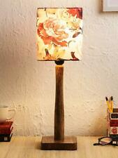 Traditional classic style Floral Rose Wooden Lamp