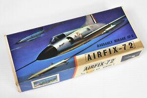 1964 1ST ISSUE BNIB SERIES 2 AIRFIX-72 MODEL DASSAULT MIRAGE IIIC RED STRIPE