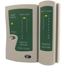 TESTER CAVO DI RETE LAN TELEFONICO RJ45 / RJ11 / RJ12 NETWORK ETHERNET TEST CAVI