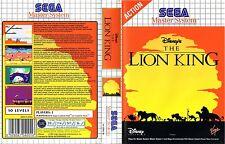 Roi Lion Sega Master System Replacement Box Art Case Insert Cover scan repro.