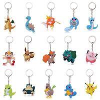 Creative 3D Pokemon Go Pocket Pikachu Silicone Rubber Keychain Key Ring Pendant