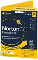 OFFICIAL Norton 360 PREMIUM 10-PC | 1 Year + 75Gb Cloud and VPN