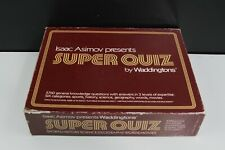 ISAAC ASIMOV PRESENTS SUPER QUIZ BY WADDINGTONS 1982  TRIVIAL TRIVIA GAME