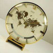 Weltzeit Tisch Uhr Kienzle chronoquarz XL Messing Vintage World Time Clock 60er