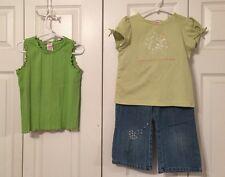 Gymboree Dandelion Wishes Denim Capris And Two Shirts - Size 6/7