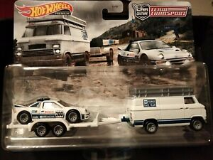 NEW 2021 Hot Wheels Team Transport Ford RS200  & Rally Van