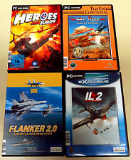 Giochi PC COLLEZIONE Flanker 2.0 SKY Aces il 2 Flight Simulator Heroes over Europe