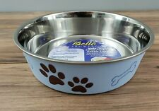 Loving Pets Bella Bowl, Medium Size, Stainless Steel Bowl, Murano Blue