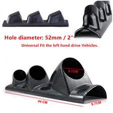 3-Hole Car A Pillar Dash Gauge Pod Mount Frame Cover Carbon Fiber Holder Durable