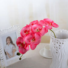 8 Heads Artificial Butterfly Orchid Silk Flower Plant Party Wedding Home Decor
