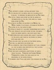 EMERALD TABLET - A4  POSTER  Wicca Pagan Witch Witchcraft Goth BOOK OF SHADOWS