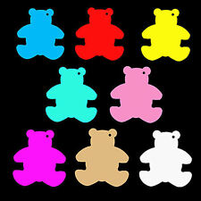 Medium Teddy Bear Shaped Price Tag Labels Display Swing Tickets. All Colours