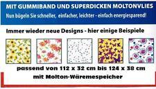 Bügelbrettbezug Bügelauflage m. Moltonwärmespeicher +  Rundumgummi bis 124x38 cm
