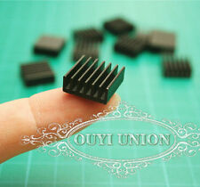 LOT  14*14*6mm mini Black Aluminum Heatsink Chip For IC LED Power Transistor X10