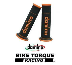 Domino A450 Black / Orange Open End Road & Race Grips to fit  Suzuki GSXR1000
