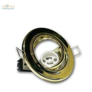 GU10 Recessed Spotlight Mounting Frame Brass 230V Light Swivel-Mounted Gu 10