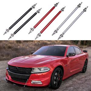 2x Front Bumper Lip Splitter Strut Rod Tie Support Bars For Dodge Charger RT SRT