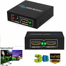 Fach HDMI Splitter 1x2 Fach 1080p 3D 1:2 Verteiler Full HD 1 In 2 Out Xbox PS4