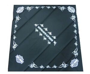 BA15330 Harley Davidson Bandana foulard testa collo nero stampato tribali cotone