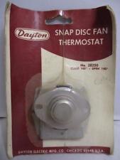 Dayton 2E250 Snap Disc Fan Thermostat Close 160- Open 140