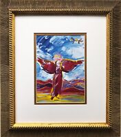 "Peter Max ""Ascending Angel "" NEWLY CUSTOM FRAMED Pop Art Psychedelic"