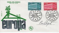 """France, Engraved by Pierre Becquet -autographed FDC """"Europe / Europa"""" 1969 Eu6"""
