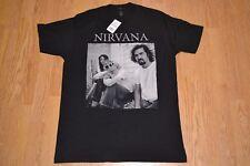 Nirvana Band Picture Kurt Cobain Dave Grohl Black T Shirt Large - NWT