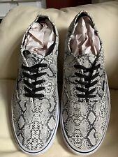 Vans Authentic Pro Snakeskin Mens Size 13 Gray White Black Retro Rare EUC