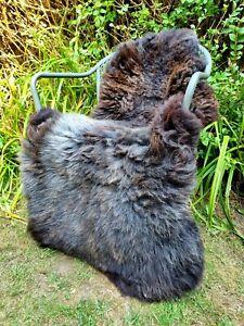 XXXXL Huge British Jacobs Brown Sheepskin Rug - 130cm by 80cm A++ (2706)