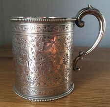 More details for antique silver christening cup. 101.8g london, martin, hall & co. 1879.