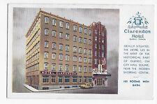 Vintage Postcard Quebec Canada Clarendon Hotel WB