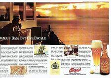 PUBLICITE ADVERTISING 126  1979   la bière  Bass Pale Ale  ( 2pages) *