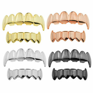 Hip-Hop Top&Bottom Teeth Set Mouth Fang Grills Teeth Caps for Costume Rapper