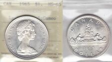 1965 ICCS MS65 $1 LgeBds Blt 5 CAMEO (Type 3 Large Beads Blunt 5) Canada silver